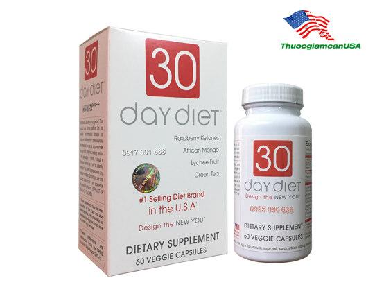 30 Day diet, giảm cân hiệu quả an toàn