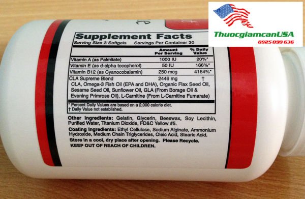 CLA Supreme số 4.2 (No 4.2 )- Sản phẩm giảm béo bụng hiệu quả nhất