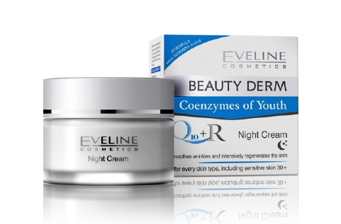 Kem dưỡng da đêm Eveline Beauty Derm Night Cream Q10 + R