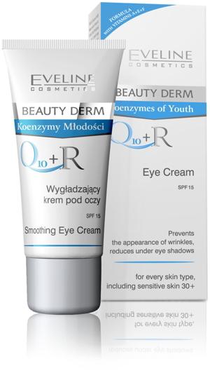 Kem dưỡng da vùng mắt Eveline Beauty Derm Q10 + R