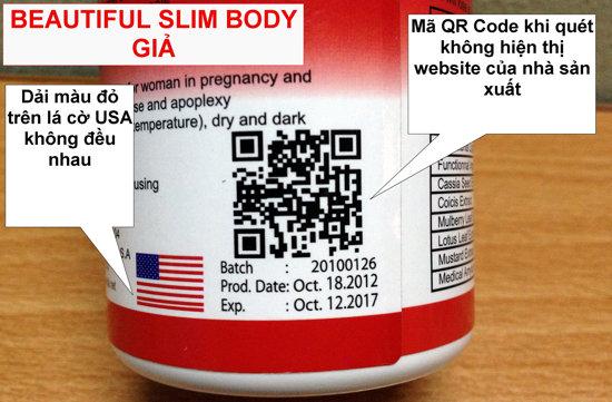 Beautiful Slim Body phân biệt Thật và Giả thế nào?