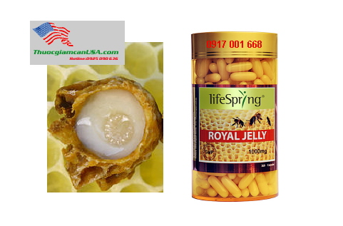 Sữa Ong Chúa LifeSpring Royal Jelly 1000mg chính hiệu từ Úc